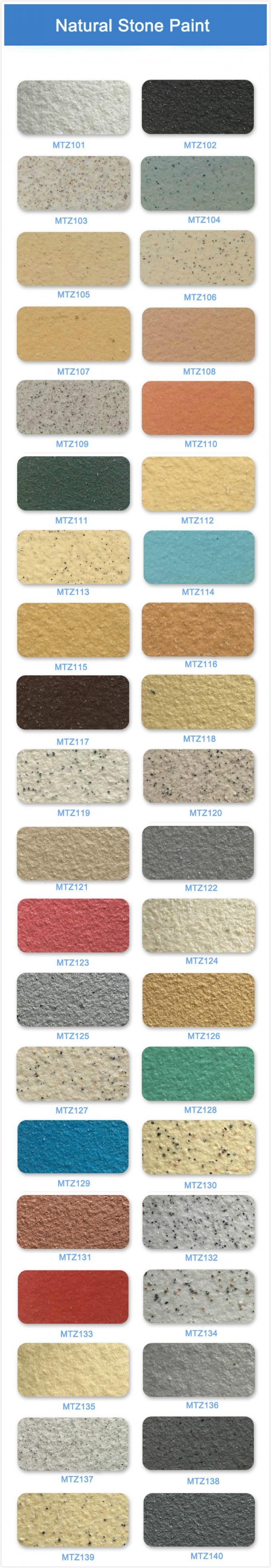 Waterborne Stone Finish Paint Stone Effect Coating for Exterior Wall