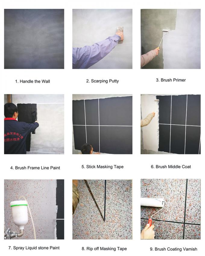 Building Decoration Granite Stone Paint Weather resistance coating Colorful Paint