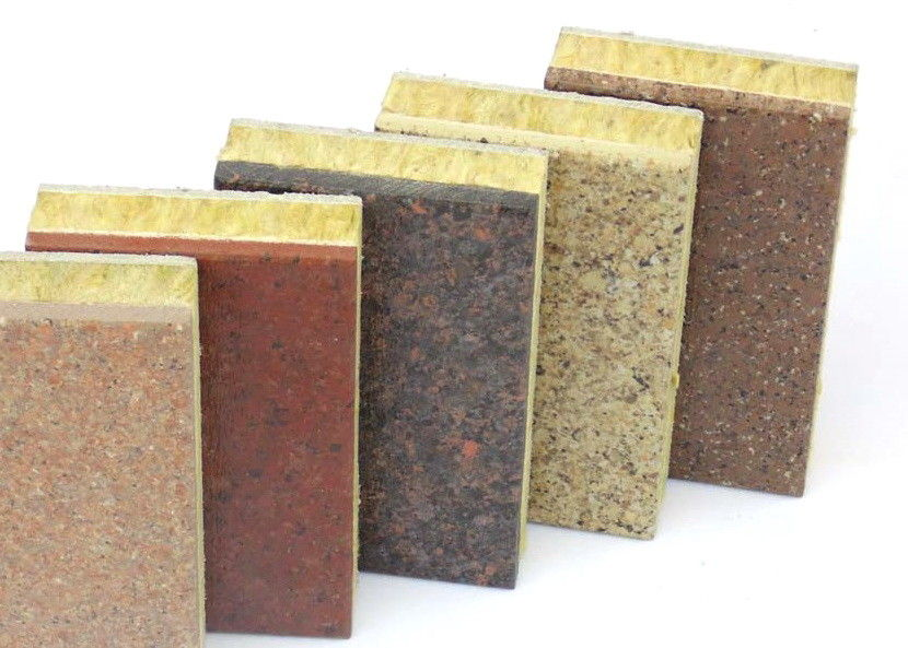 Integrated Decorative Insulation Board / Custom Rock Wool Wall Panels